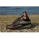 Slim TAYGRA trainers Bronze with Black logo