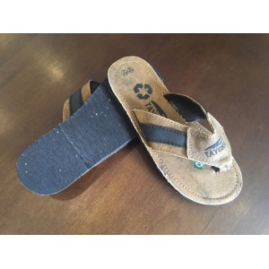 TAYGRA flip flops with recicled Truck´s canvas and tyre