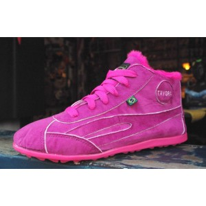 High-Top Brasilian shoes Fuchsia with Fur