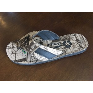 "TAYGRA flip flops ""Newspaper"" edition"